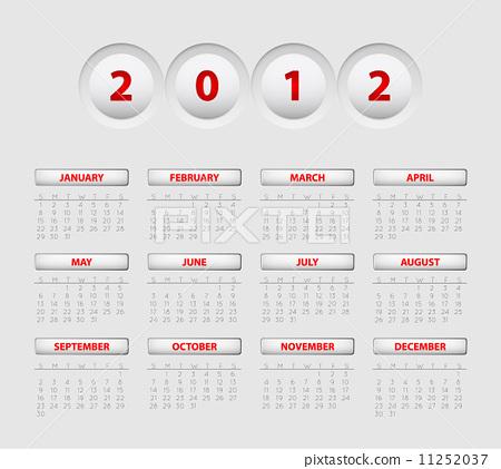 Vector button calendar 2012 11252037