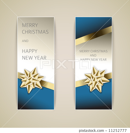 Set of vector christmas / New Year banners 11252777