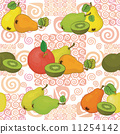 Seamless pattern and fruits 11254142
