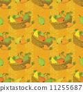 Seamless pattern, baskets and fruits pears 11255687