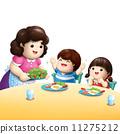 kids love eating vegetable illustration 11275212