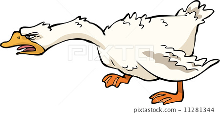 Angry goose 11281344