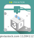 3d printer icon with flat design 11284112