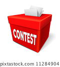 contest word on the red box 11284904