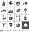 Cafe and confectionery icons 11286868