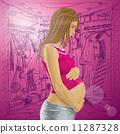 เวกเตอร์,ตั้งครรภ์,การตั้งครรภ์ 11287328