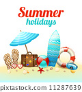 Summer holidays background poster 11287639