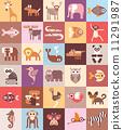 zoo, icon, animals 11291987