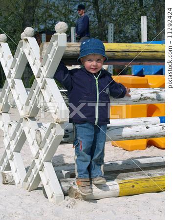 Little girl on hippodrome 11292424