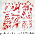 Vector Christmas and New Year doodle illustrations 11295444