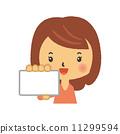 여성, 카드, 벡터 11299594