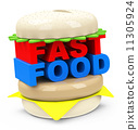 the fast food burger 11305924