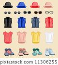 hipster, vector, girl 11306255