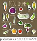 Food vegetables set 11306274