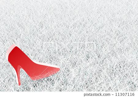 Red high heels 11307116