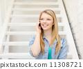 smiling, smartphone, phone 11308721
