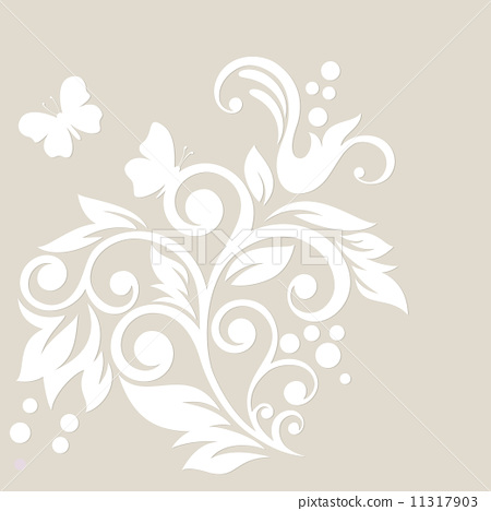 Floral background. Wedding card  11317903