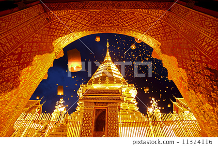 Night view Doi Suthep Chiang Mai, Thailand 11324116
