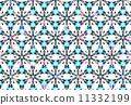 模様 雪の結晶+ラメ 11332199