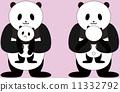 育兒 熊貓 父母和小孩 11332792