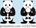 育兒 熊貓 父母和小孩 11332794