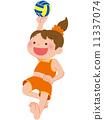 beach, volleyball, ball 11337074