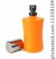 orange small bottle with a perfume liquid 11339194