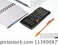 电脑,写书,三角板等静物 11360067