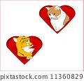 วาเลนไทน์,เวกเตอร์,หัวใจ 11360829