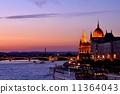 evening scene, danube, danube river 11364043
