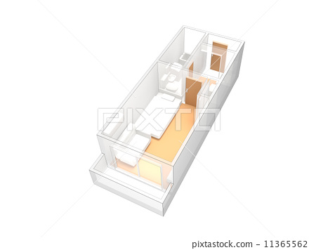 Studio apartments Floor Plans - Stock