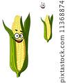 玉米 背景 卡通 11368874