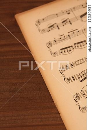 Stock Photo: score, music score, score board