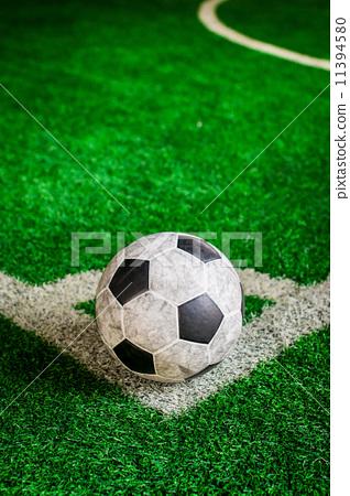 Soccer ball on green grass 11394580