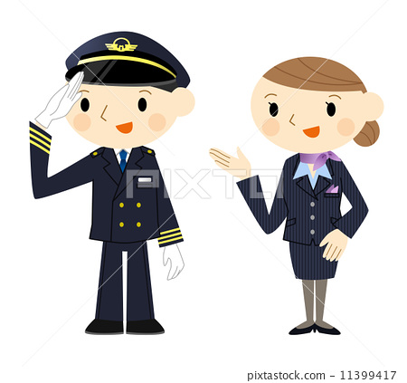cabin attendant  pilot  cabin crew stock illustration animated football player clipart animated clipart football player