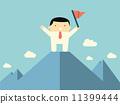 character, mountain, flag 11399444