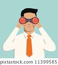 man with binoculars 11399565