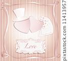 Romantic vintage style wedding invitation post card  11413957