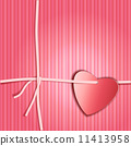 Romantic gift package with paper ribbon and paper look red heart 11413958