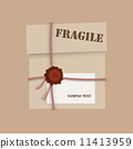 Gift package cardboard box with wax seal 11413959