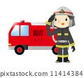 消防车和消防员 11414384
