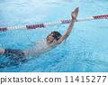 游泳 仰泳 男孩 11415277