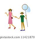 孩子 携手 姐姐和弟弟 11421870