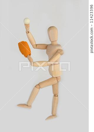 Baseball pose 11423396