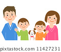 Family and dog 11427231