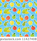 Seamless background, apples and pears 11427408