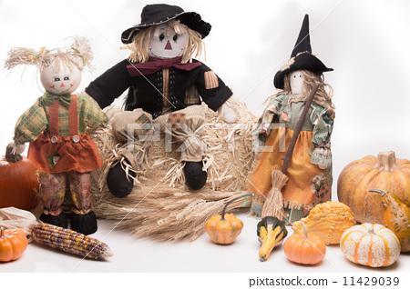 Harvest Scarecrow Family 11429039