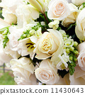 wedding marquee with bouquets of roses 11430643