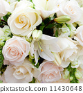 wedding marquee with bouquets of roses 11430648