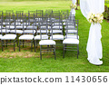 wedding marquee with bouquets of roses 11430656